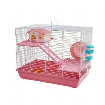 Pet Ting Pink Sunflower Rodent Cage
